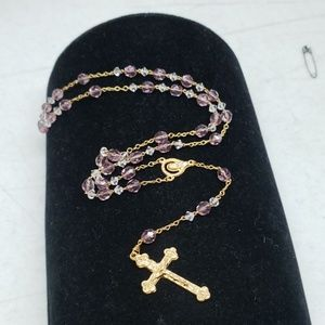New Victorian lavender colored rosary